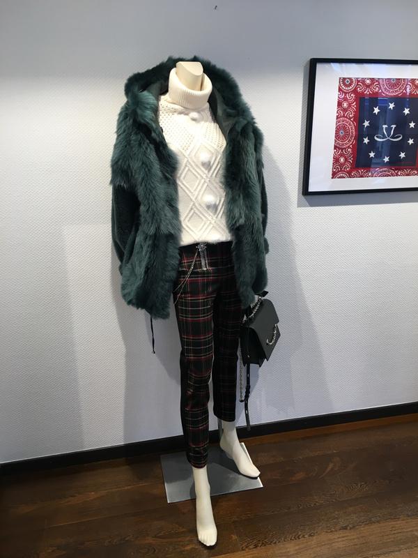 Peau lainée réversible